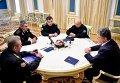 Встреча президента Петра Порошенко и Игоря Воронченко