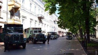 Мэрия Одессы в оцеплении Нацгвардии