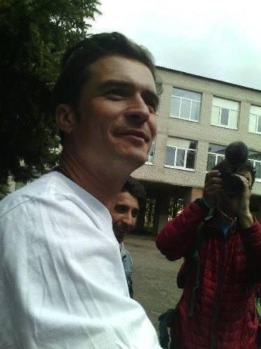 Орландо Блум в Донбассе