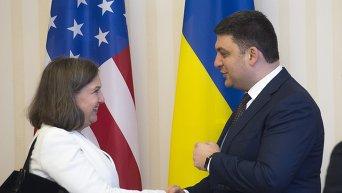 Виктория Нуланд и Владимир Гройсман