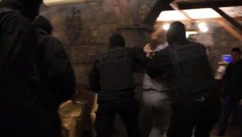 Задержание подозреваемого в убийстве бойца АТО. Видео
