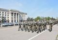 Смотр подразделений Нацгвардии и полиции, которые будут обеспечивать правопорядок в городе Одесса на майские праздники