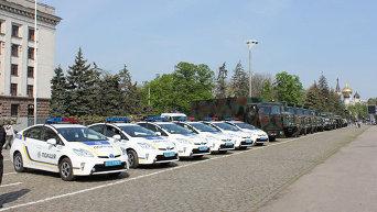 Смотр подразделений Нацгвардии и полиции в Одессе