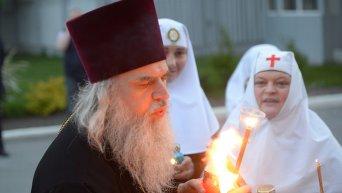 Прибытие Благодатного огня в Украину