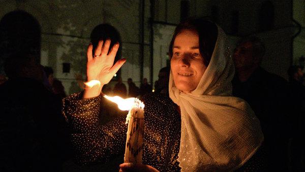 Православные вовсем мире отмечают Пасху