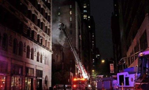 Пожар в старинном православном храме в Нью-Йорке