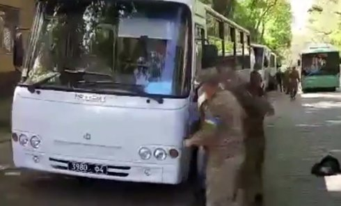 Жесткое задержание молодого человека в Одессе