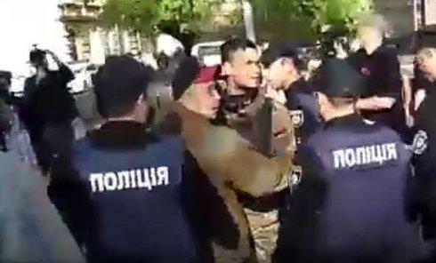 Потасовка на Куликовом поле в Одессе с Правым сектором