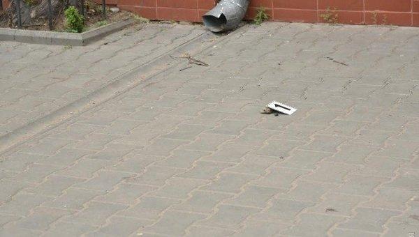 На месте нападения на журналистов в Одесе