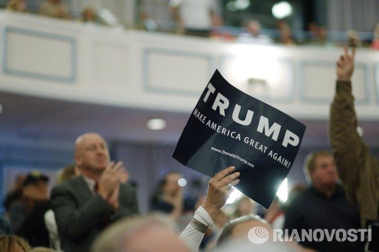Кандидат в президенты США от Республиканской партии Дональд Трамп в штате Индиана