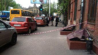 На месте нападения на журналистов в Одессе