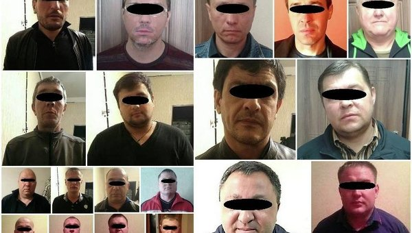 Задержанные в Украине воры в законе
