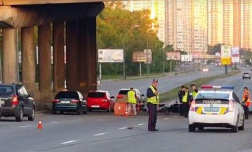 На месте ДТП на Саперно-Слободской в Киеве