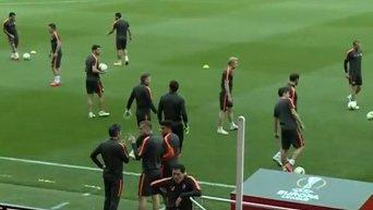Тренировка Шахтера перед матчем против Севильи. Видео