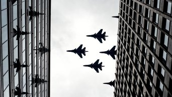 Тренировка групп парадного строя авиации к параду Победы