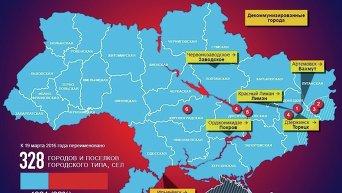 Декоммунизация украинских городов. Инфографика