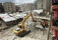 На месте обвала шестиэтажного здания в Найроби, Кения