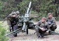 Учения артиллеристов и минометчиков Нацгвардии на полигоне в селе Старое под Киевом