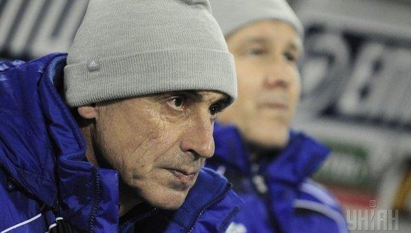 Тренер ФК Динамо Валерий Зуев. Архивное