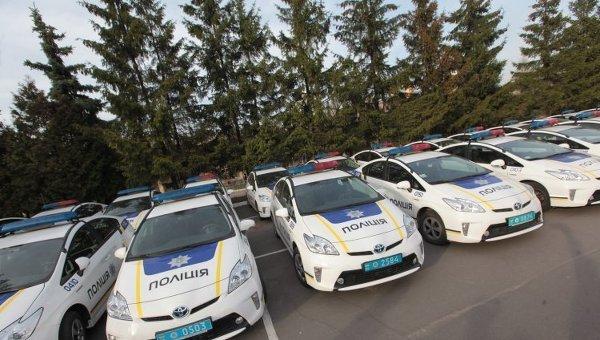 Автомобили патрульной службы полиции в Киеве