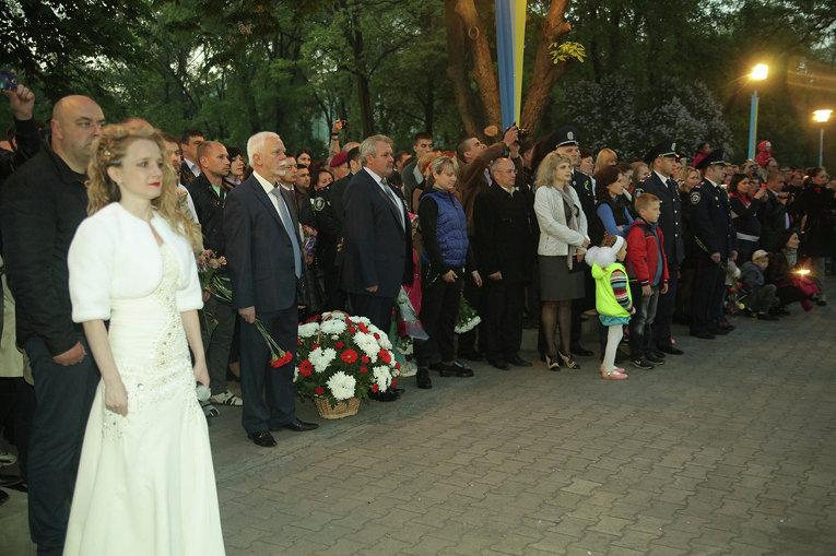 Памятная акция в честь 71-й годовщины победы в Великой Отечественной войне в Кривом Роге