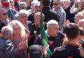 Появилось видео столкновений во время возложения цветов в Харькове