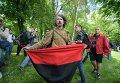 Флаг УПА в Парке Славы