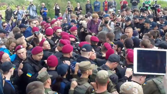 Потасовка в центре Киева: кадры с места событий