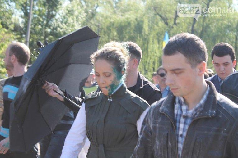 Наталия Королевская в зеленке в Славянске