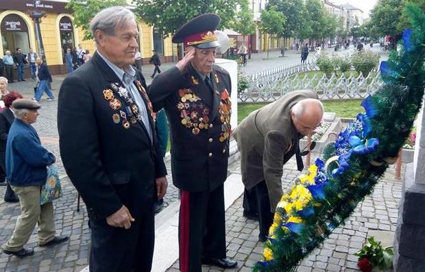 День Победы в Ужгороде