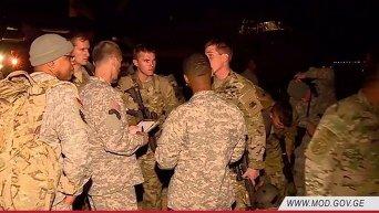 В Грузию на учения прибыли военнослужащие США и Великобритании. Видео