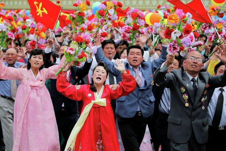 Парад в честь съезда Трудовой партии КНДР