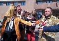 В Ивано-Франковске участники АТО стянули шины под мэрию. Видео