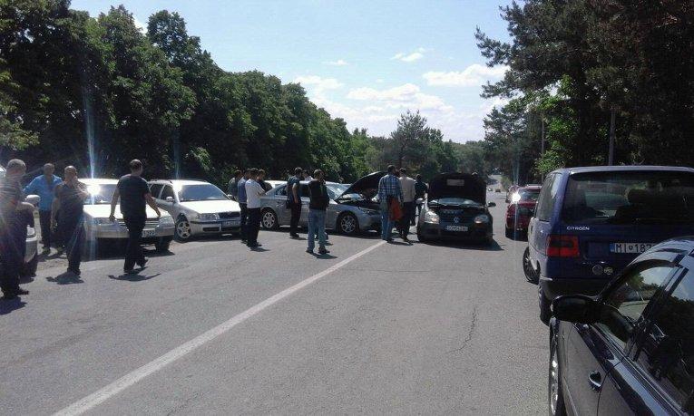 Блокирование КПП в Ужгороде