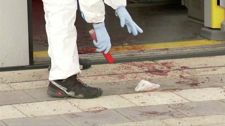 Полиция на месте кровавой резни в Мюнхене
