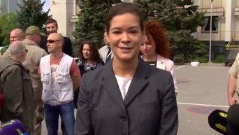 Люди в Одессе требуют отставки Марии Гайдар