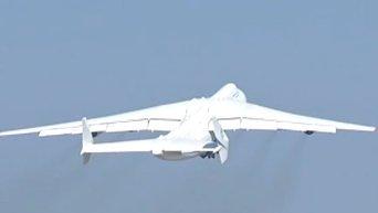 Крупнейший самолет в мире Ан-225 Мрия вылетел в коммерческий рейс. Видео