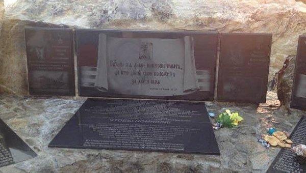Осквернение памятника российским военным в Амурской области