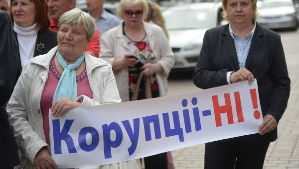Митингующие у Кабмина. Архивное фото