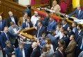 Юрий Луценко перед голосованием по его кандидатуре на пост генерального прокурора Украины. Его кандидатуру поддержали 264 народных депутата