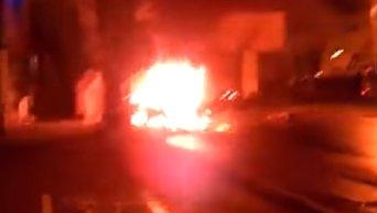 Взрыв автомобиля в Донецке. Видео
