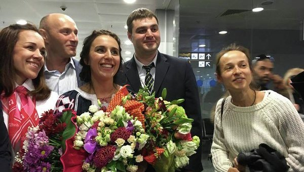 Джамала в аэропорту Борисполь