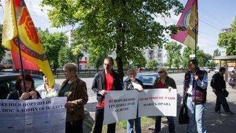 Акция протеста педагогов под Министерством образования