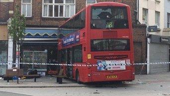 На месте аварии в Лондоне