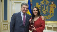 Встреча Джамалы и президента Петра Порошенко