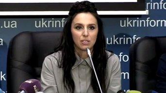 Джамала станцевала под песню Лазарева на пресс-конференции в Киеве