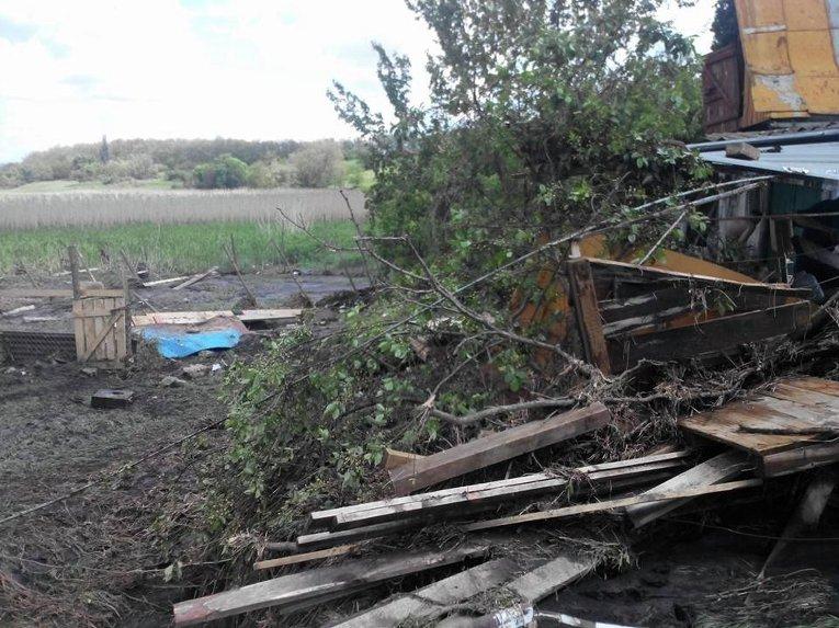 Под Днепропетровском грязевой поток уничтожил приют для животных