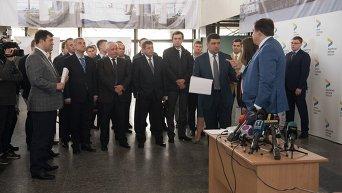 Владимир Гройсман и Михаил Саакашвили в Одессе