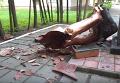 Появилось видео разбитого памятника Ленину в Полтавской области