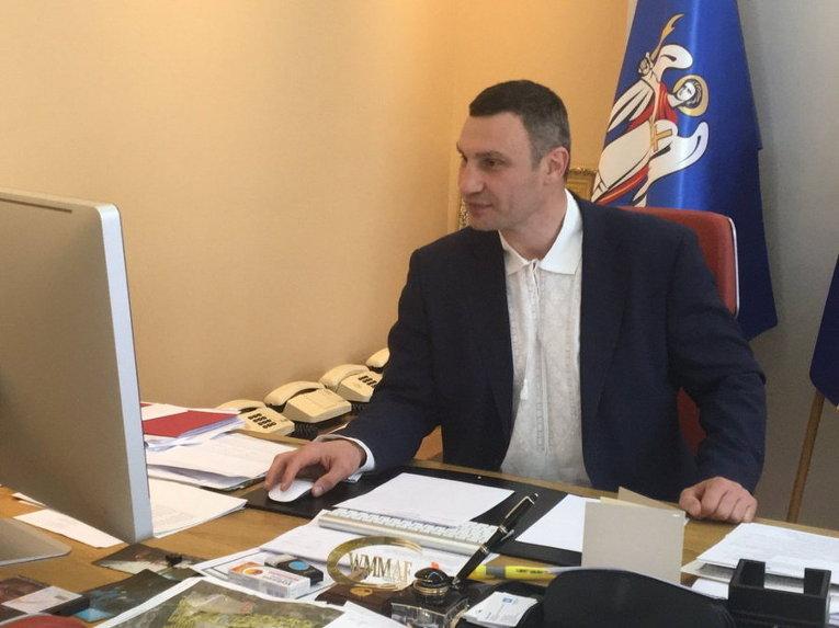 Виталий Кличко надел вышиванку в честь Дня вышиванки